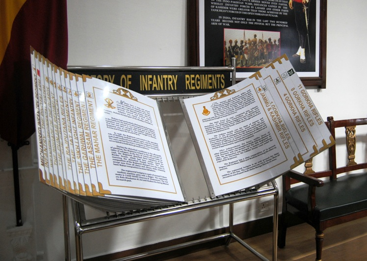 Description and history of each infantry regiment.