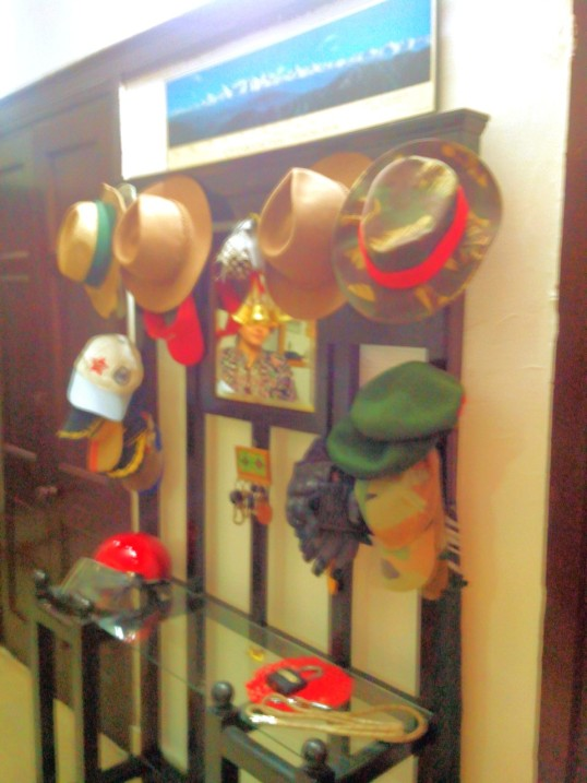 The wife of Major Sa'ab's CO was kind enough to let me click a picture of her elaborate cap stand.
