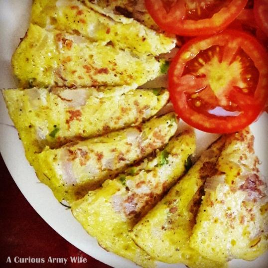 Potato-Egg Omelette slices