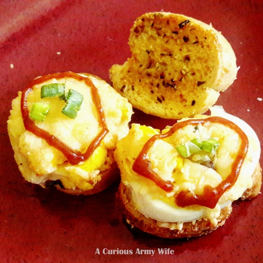 Egg Cheese Crostini